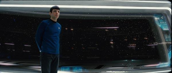 Spock (Zachary Quinto) on the bridge