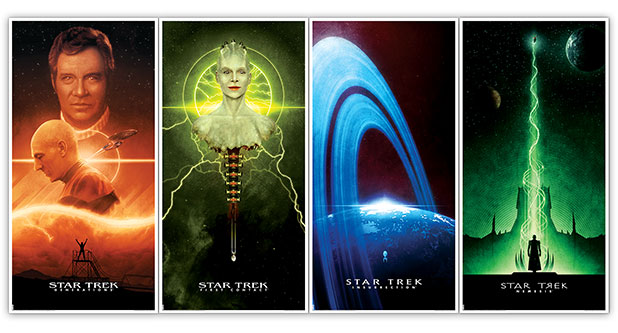 Bye Robot Launches 4 NEW Star Trek The Next Generation Movie Posters