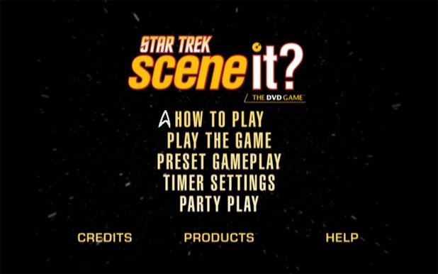 Scene It? Menu