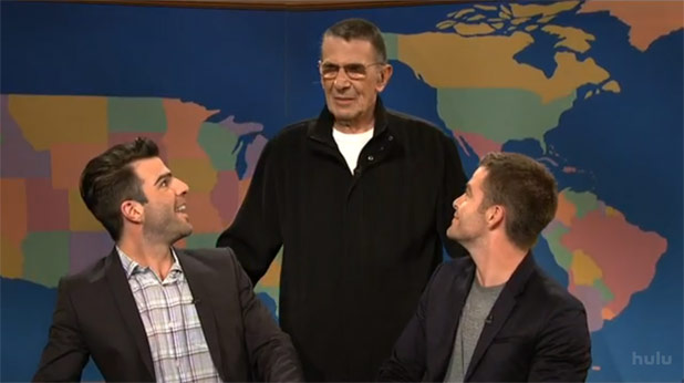 Nimoy, Pine, & Quinto Guest On SNL Weekend Update