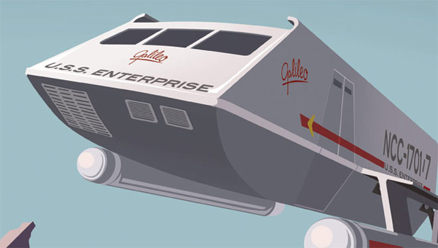 "Bye Bye Robot Launches ""Enterprise Shuttle Service"" Poster & Stickers Set"