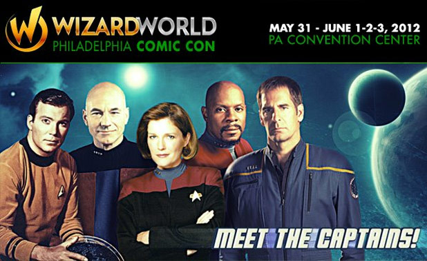 All Five Star Trek Captains On Board For Philadelphia Comic Con