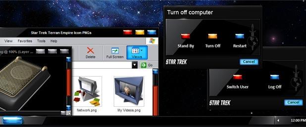 Star Trek TOS Terran Empire XP Desktop Theme Available