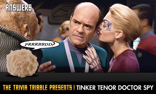 Answers - The Trivia Tribble Presents: 'Tinker Tenor Doctor Spy'