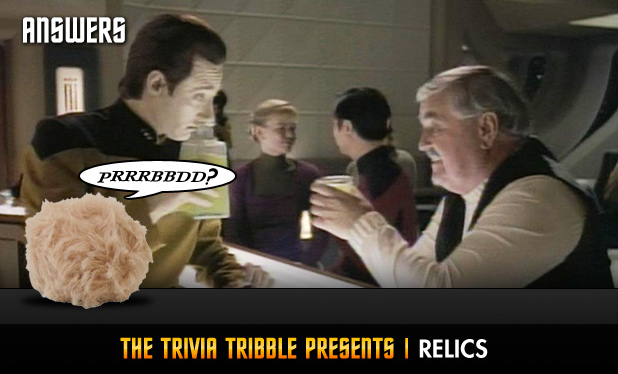 Answers - The Trivia Tribble Presents: 'Relics'