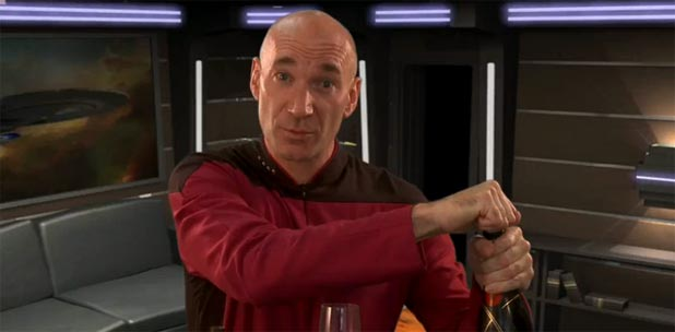 Captain Picard's Perfect Champaign Cocktail