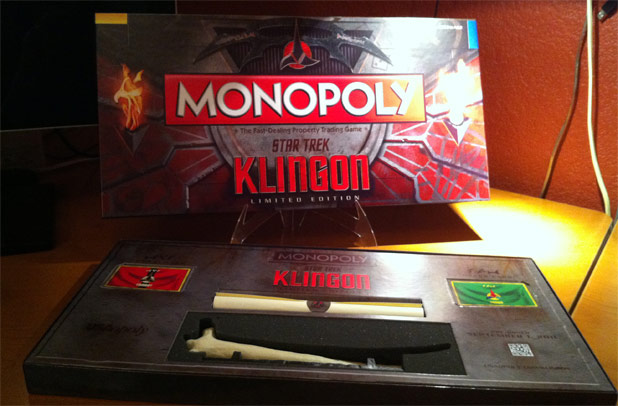 Trek Culture Preview: MONOPOLY®: Star Trek Klingon Edition - Limited Edition Box Art & Collectible