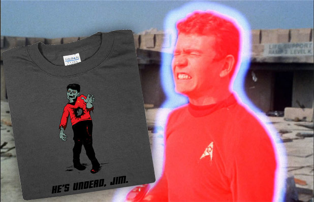 Zombie Redshirt, Uh, Shirt.  For Your Last Minute Christmas Shopping Needs